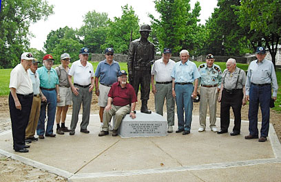 GI Statue installed at site